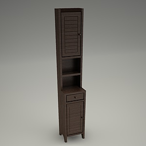 free 3d models - tall cabinet 3d model MOCCA with drawer