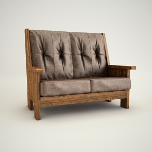 free 3d models - Sofa ludwik 2 3d model