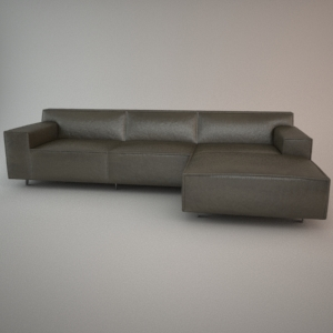 Sofa 3d model - VESTA 2,5+Pouf