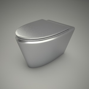free 3d models - Steel wc
