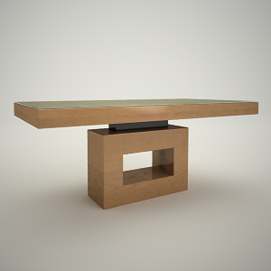 free 3d models - Dining table free 3d model 4