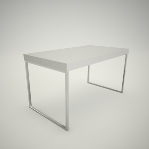Dining table free 3d model 5