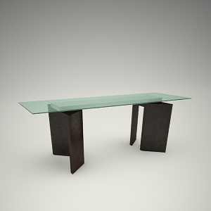 Dining table free 3d model 1