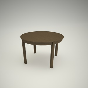 free 3d models - Dining table free 3d model 2