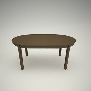 Dining table free 3d model 3