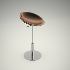 free 3d models - Bar stool free 3d model 1