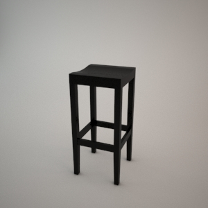 free 3d models - Bar stool BST-0506 3d model FAMEG