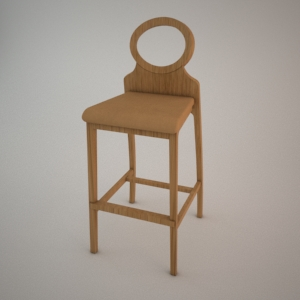 Bar stool BST-1202 3d model FAMEG
