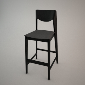 Bar stool BST-1319 3d model FAMEG