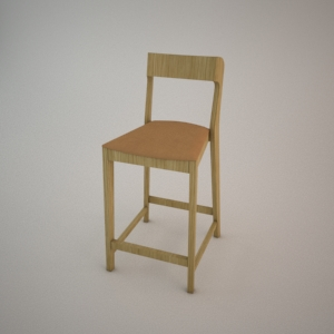 free 3d models - Bar stool BST-1320 3d model FAMEG