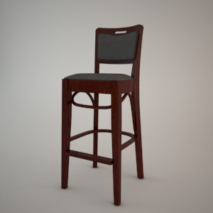 Bar stool BST-423 3d model FAMEG
