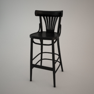 Bar stool BST-788_FAN 3d model FAMEG