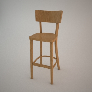 free 3d models - Bar stool BST-9449 3d model FAMEG