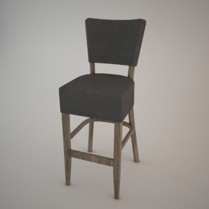 free 3d models - Bar stool BST-9608 3d model FAMEG
