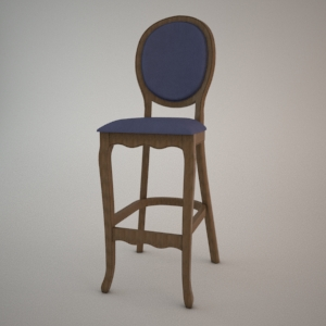 Bar stool BST-9702-1 3d model FAMEG