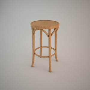 Bar stool BST-9739-61 3d model FAMEG