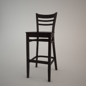 Bar stool BST-9907 3d model FAMEG