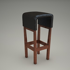 Bar Stool 3d Model Modern Bst 0461 Fameg Free 3d