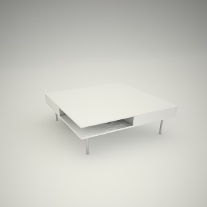 Coffee table free 3d model 1