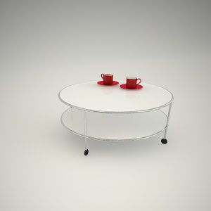 Coffee table free 3d model 2