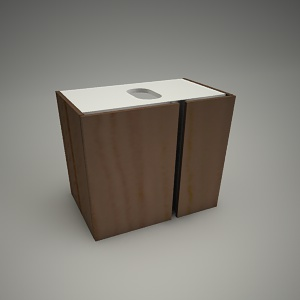 free 3d models - Cabinet domino xl 60cm