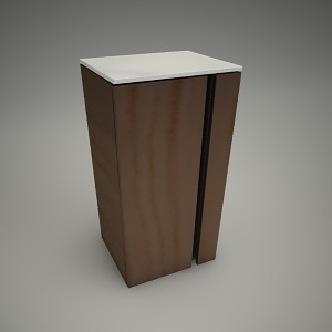 free 3d models - Cabinet domino xl 75cm