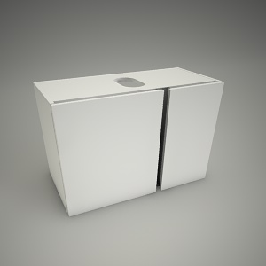 free 3d models - Cabinet domino xl 76cm