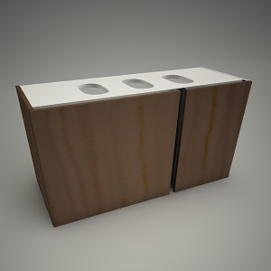free 3d models - Cabinet domino xl 96cm