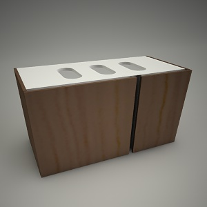 free 3d models - Cabinet domino xl 96x46cm