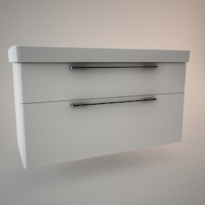 Bathroom vanity unit I 3d model TRAFFIC