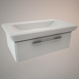 free 3d models - Bathroom vanity unit II 3d model LIFE!