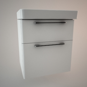 Bathroom vanity unit IV 3d model TRAFFIC
