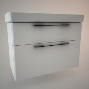 Bathroom vanity unit VI 3d model TRAFFIC