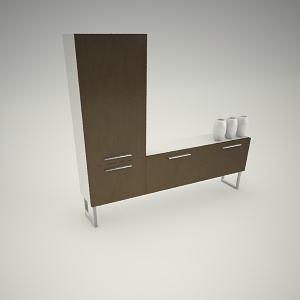 free 3d models - Tv rack free 3d model 1
