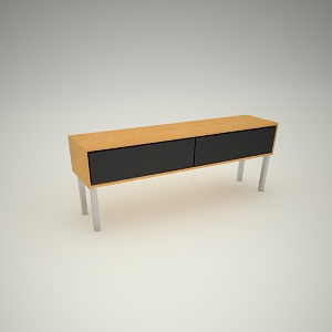 free 3d models - Tv rack free 3d model 2