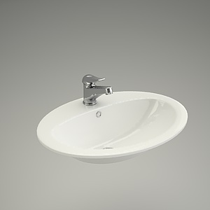 free 3d models - Washbasin CALLA 54