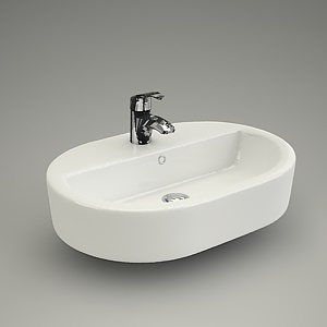 free 3d models - Washbasin CASPIA OVAL 60