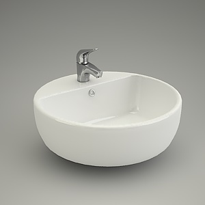 free 3d models - Washbasin CASPIA RING44