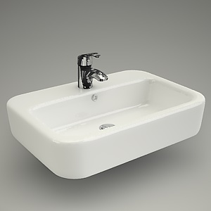 free 3d models - Washbasin CASPIA SQUARE 60