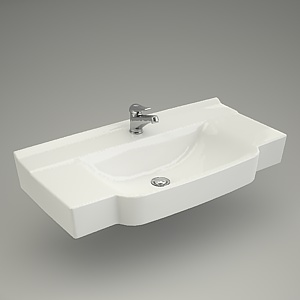 free 3d models - Washbasin DECO 90