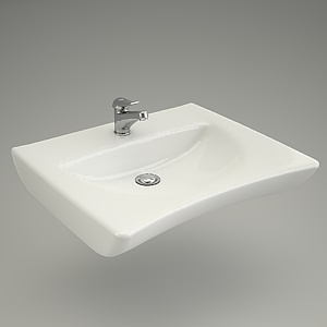 free 3d models - Washbasin ETIUDA 65
