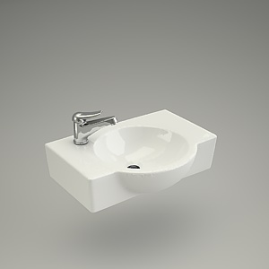 free 3d models - Washbasin NANO 50