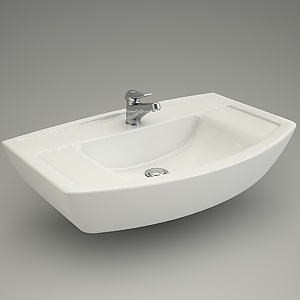 free 3d models - Furniture basin OLIMPIA 80