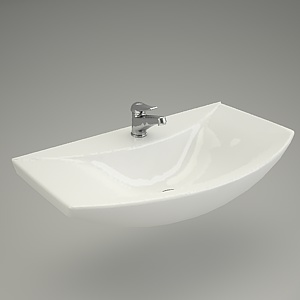 free 3d models - Washbasin OMEGA 80