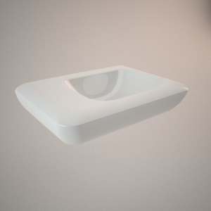 Asymmetrical washbasin 40 cm left LIFE!