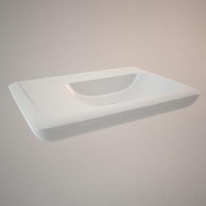 Asymmetrical washbasin 70 cm left LIFE!