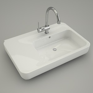 asymmetrical washbasin EGO left 80cm