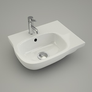 asymmetrical washbasin STYLE right 45cm