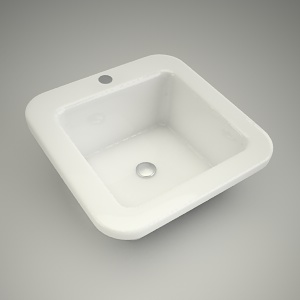 free 3d models - Washbasin cocktail kwadra