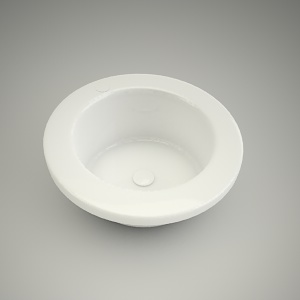 free 3d models - Washbasin cocktail round 45cm